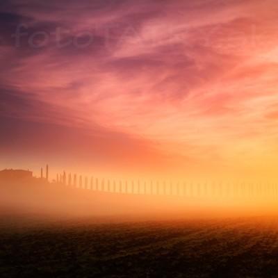 <b>Toskánsko</b> <br><br>Niekedy má fotograf proste tušák, že nie je ráno na správnom mieste. Mal som pred východom slnka ešte chvíľu čas. Dosť na to aby som sa presunul o 15 km južnejšie a zachytil neskutočnú atmosféru toskánskeho rána