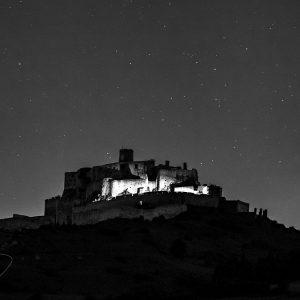 spišský hrad a kométa C/2020 F3 (NEOWISE)